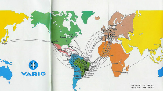 Varig route map (1993)